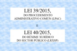 Curso superior sobre as leis 39/2015 e 40/2015
